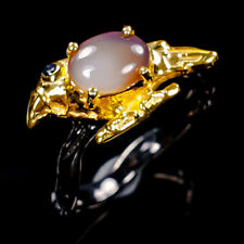 Beauty Rainbow8x6mm Natural Opal 925 Sterling Silver Ring Size 8/R99514