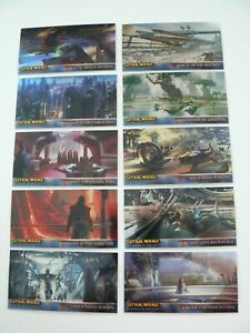 *** TOPPS STAR WARS ROTS WIDEVISION CHROME CARDS R1-R10 RETAIL SET ***