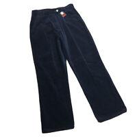 LKNW Womens TOMMY HILFIGER Blue Soft Velvet Corduroy Pants Size 12 (32 x 32)