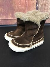 Converse All Star Chuck Taylor Infant size 6 Brown Suede Mid Calf Sneaker Boots