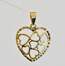 9K GOLD HEART PENDANT 7 HEARTS IN ONE GENUINE 9K 375 GOLD NEW