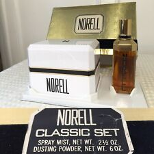 New in Box/Sealed Vintage NORELL Gift Set Perfume Spray Mist & Dusting Powder