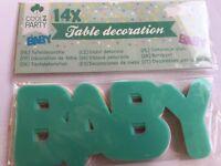 décoration de table baby girl boy chiffre 16 fille garçon bébé party fête déco