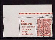 BERLIN Zusammendruck S 5, sehr schön gestempelt, geprüft, Bogenecke (21295)
