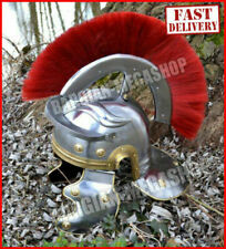 HALLOWEEN Roman Centurion Helmet w/ Plume & Fitted Leather Liner, Chin Strap