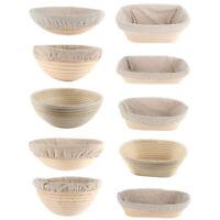 Oval Round Bread Proofing Proving Basket Rattan Baking Brotform Banneton-Dough