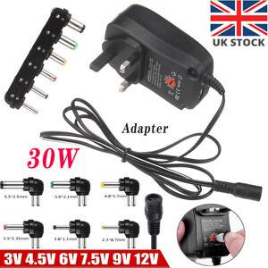 30W Universal AC/DC Power Supply Adapter 3-12V UK Plug Multi Voltage Charger UK