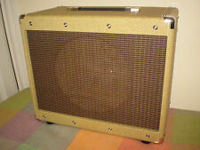 """EB Classic 112E 12"""" guitar speaker cabinet. Real tweed with Oxblood stripe grill"""