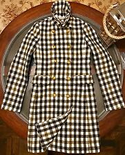 J.crew Womens Double Breasted 100% Fine Wool Plaid Coat Size 4 Brand New W Tags