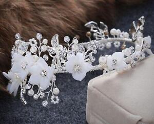 Diamant Hochzeit Wein Kopfbedeckung Perlen Haarreifen Crystal Brautkleid Zubehör