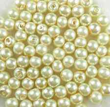 White Ivory/Cream Glass Pearl Spacer Loose Bead Bride Bridal DIY Jewellry Making