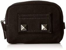 MARC JACOBS M0009014 Small Chipped Studs Cosmetic Pouch Women's Canvas Black NWT