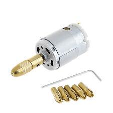 Mini Mirco Electric PCB Motor Drill Press Drilling Bits Tool Twist Drill 12V New