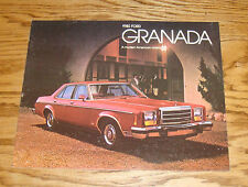 Original 1980 Ford Granada Sales Brochure 80 ESS Ghia
