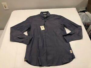 NWT $295.00 Robert Graham R Collection Vitale LS Buttondown Grey Size XXL