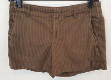 GAP Womens OLIVE GREEN Stripe Cotton/Spandex Stretch Shorts Size 0