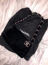 100% Authentic Chanel Velvet Evening bag in Black