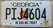 Georgia 2015 IN GOD WE TRUST CLAYTON COUNTY License Plate # PIJ4604