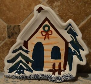 COOKS BAZAAR HOLLY MOUNTAIN LODGE LARGE SERVING PLATTER~EUC~COOKIES~BREAD~MORE