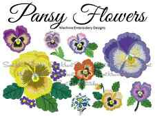 Pansy Flower Machine Embroidery Design Patterns JES VIP VP3 PES HUS DST EXP