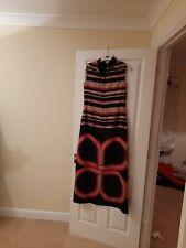 Designer evening full length dress, striped