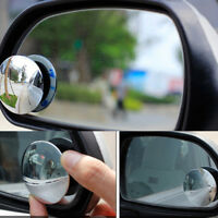 2Pcs universal car 360° wide angle convex rear side view blind spot mirror  I1