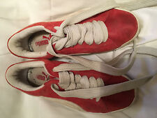 VINTAGE PUMA RED AND WHITE SUEDE 6.5 MEN'S ?
