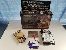 Transformers G1 Blitzwing - Near Complete, Box, Stickers - Hasbro, Vintage