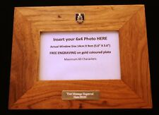 Royal Marines Oak Photo Frame FREE ENGRAVING Military Gift BGK21