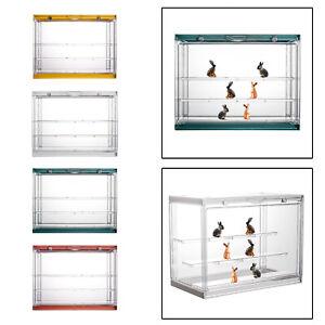 Transparent Display Storage Case Plastic for Doll Diecast Car Toys Models