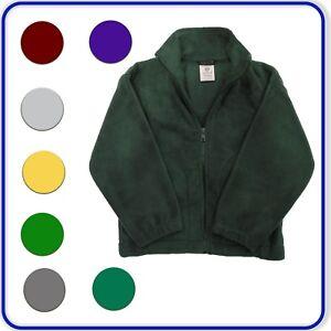 New Good Quality Polar Fleece Jacket with Black Zip Boys Girls Ages 3-13 (4201)
