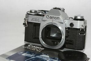 """Canon AE-1 SLR Gehäuse #1717497 """" Lichtdichtungen erneuert """" voll funktionsfähig"""