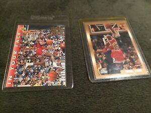 1998 Topps #77 Michael Jordan *VG/NM* + 1992-1993 UD Michael Jordan #453