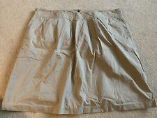 "Womens Lands End khaki lined pleated skirt Sz 22W  42"" waist  FLAWLESS"