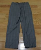 banana republic DRESS Pants gray PLAIDS & CHECKS straight leg size: 31/30