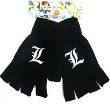 Anime Death Note L Lawliet Cosplay Knitted Gloves Half Finger Winter Mitten Gift