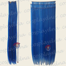 """24"""" Dark Blue Heat Stylable Hair Weft Extention (3 pieces) Cosplay DNA 7512"""