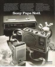 PUBLICITE ADVERTISING 055  1975  SONY   magnétophone cassette corder transistor
