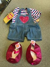 Design a Bear Chad Valley Heart  Dress & Shoes Girls Clothes Cute Outfit Pink