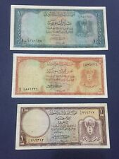 Syria 1, 5 And 10 Livre 1950 Scarce Set