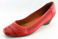 Clarks Artisan Wedge Pink Leather Women Shoes Size 8.5 Medium (B, M)