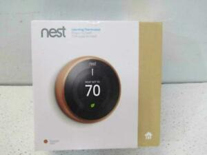 Google Nest 3rd Generation Programmable WiFi Thermostat - Copper Color T3021US