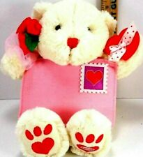 AVON Valentine Musical singing Bear Signed Sealed Delivered I'm Yours Plush