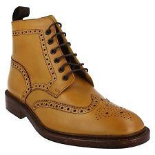 Loake Burford Brogue Boot in Tan