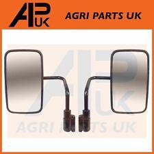 "JCB 3CX 4CX Parts PAIR of Cab Mirror Arms & Heads 12.6"" x 7.3"" Backhoe Digger"