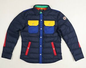 Polo Ralph Lauren Color Block Down Puffer Shirt Jacket Size S