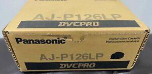 NEW Sealed Box of 10 Panasonic AJ-P126LP DVCPRO Digital Video Cassette Tapes +3