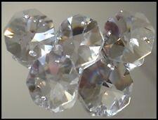 Crystal Octagon A-Grade 14mm 2 Hole Clear x 100 BULK - suncatcher octagons SALE