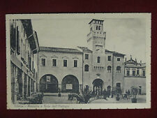 ODERZO  Piazzetta e Torre Orologio  viaggiata 1947  #8464
