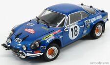 Kyosho 08485e scala 1/18 renault alpine a110 1800s n 18 winner rally montecarlo